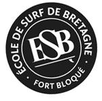 logo esb : ecole de surf bretagne