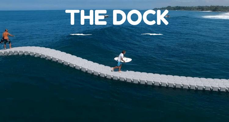 the dock : pont flottant pour le surf